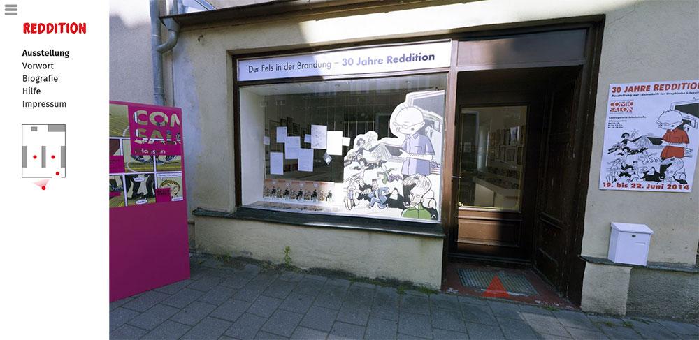 Blick auf den »Eingang« zur virtuellen REDDITION-Ausstellung